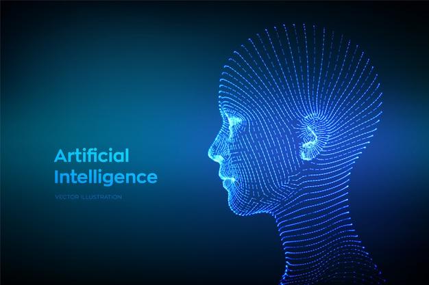 Resumen Estructura Metálica Digital Rostro Humano Cabeza