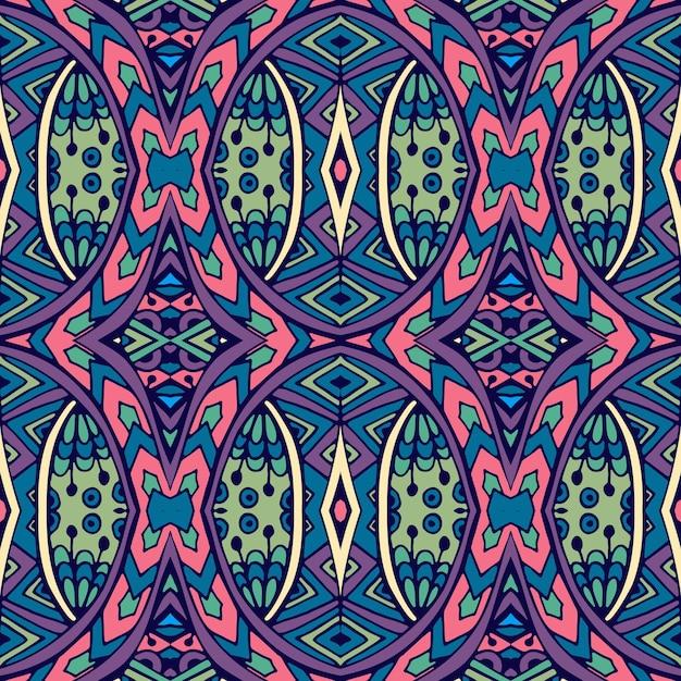 Resumen étnico tribal vintage ornamental de patrones sin fisuras Vector Premium