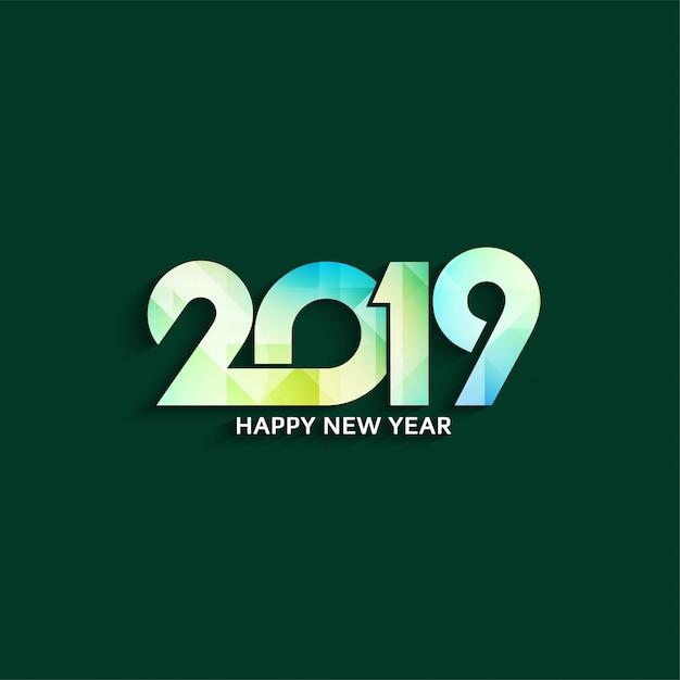 Resumen feliz año nuevo 2019 elegante fondo vector gratuito