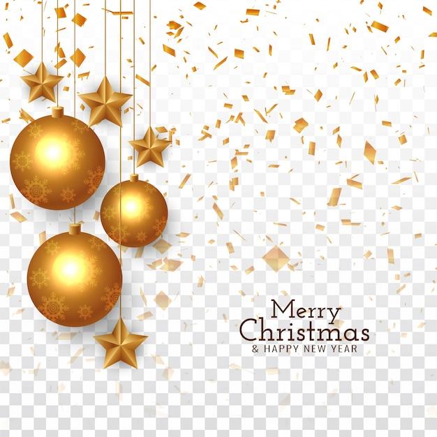 Resumen feliz navidad saludo confeti vector gratuito
