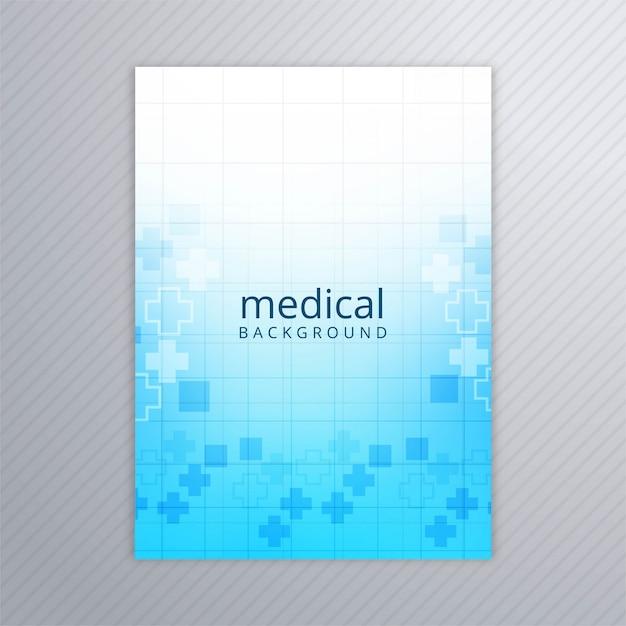 Resumen folleto médico plantilla fondo vector vector gratuito