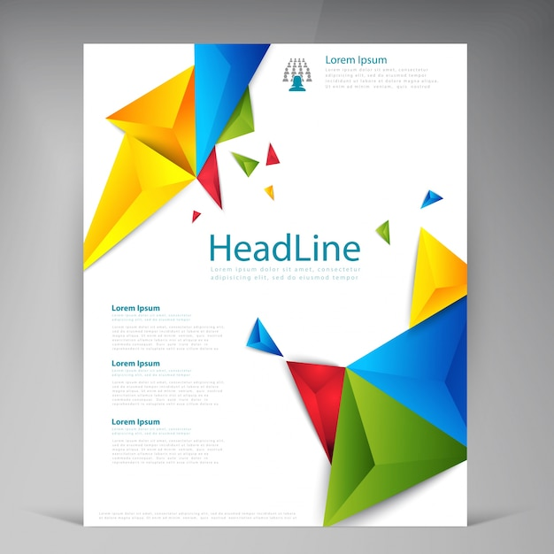 resumen folletos modernos folletos vectoriales
