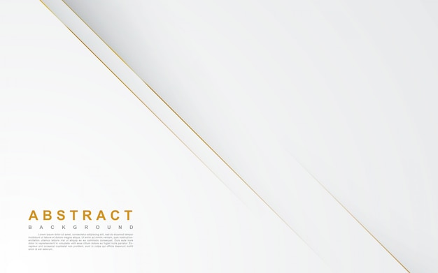 Resumen fondo blanco con línea de oro Vector Premium