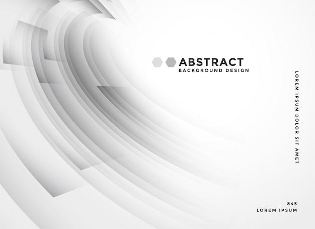 Resumen de fondo con curvas gris elegante vector gratuito