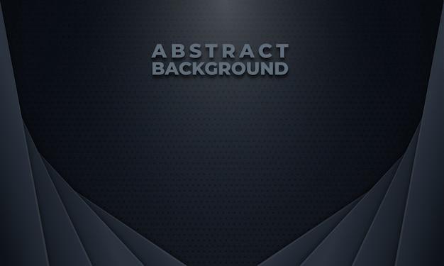 Resumen fondo gris oscuro con patrón de puntos Vector Premium