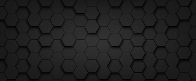 Resumen de fondo de hexágono de patrón Vector Premium
