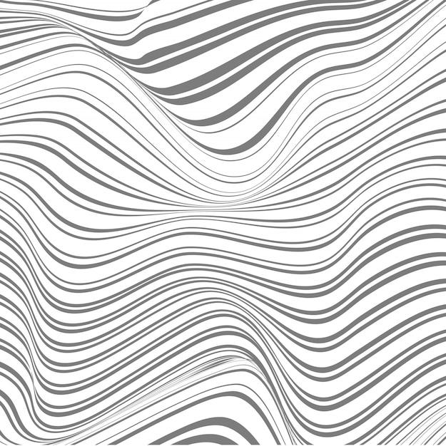 Resumen de fondo de líneas deformadas vector gratuito