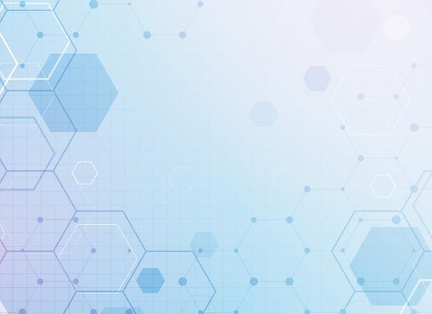 Resumen geométrico hexagonal médico vector gratuito