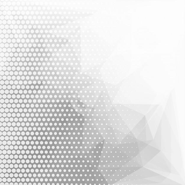 Resumen gris poligonal geométrico con fondo punteado vector gratuito