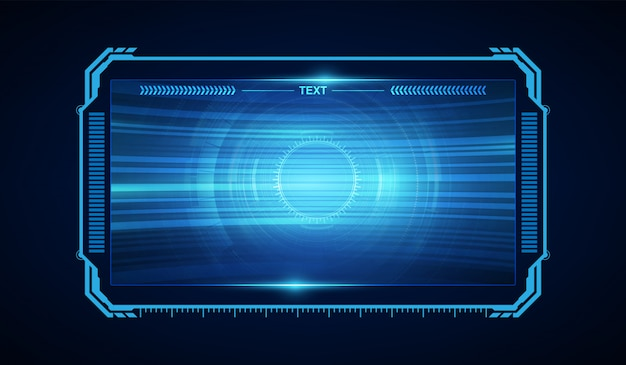 Resumen hud ui gui futuro diseño virtual del sistema de pantalla futurista Vector Premium
