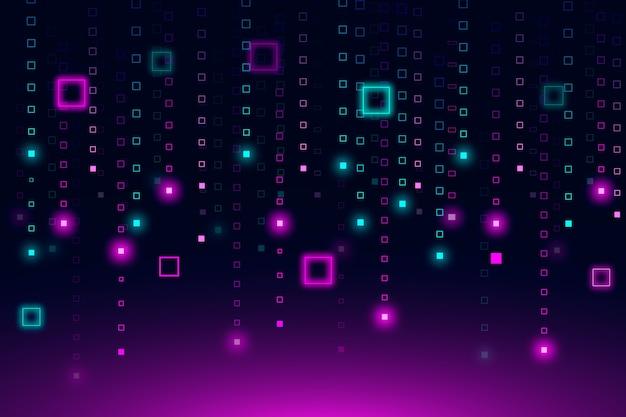 Resumen de lluvia de píxeles de fondo vector gratuito