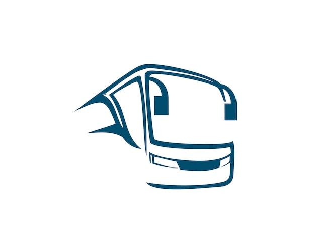 Resumen de logotipo de autobús Vector Premium