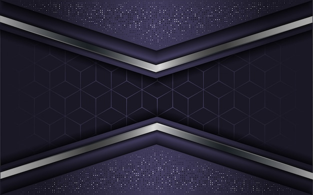 Resumen de lujo púrpura con capa superpuesta Vector Premium