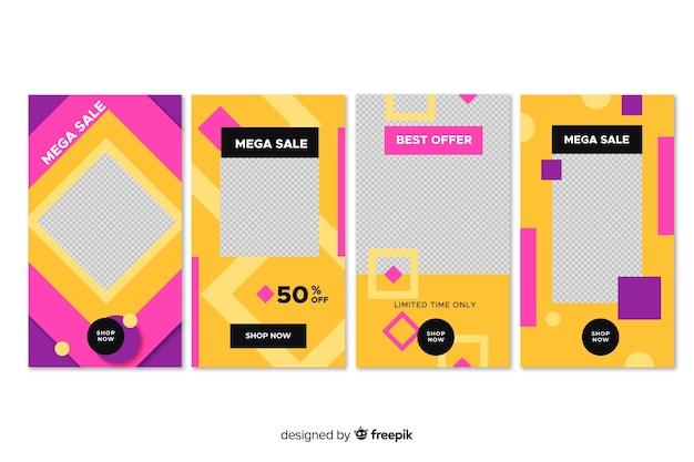 Resumen de moda venta instagram historias vector gratuito