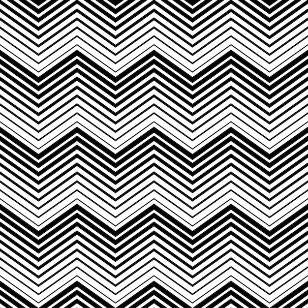 Resumen patrón transparente triángulo blanco y negro con estilo de línea. patrón de líneas sin costura Vector Premium