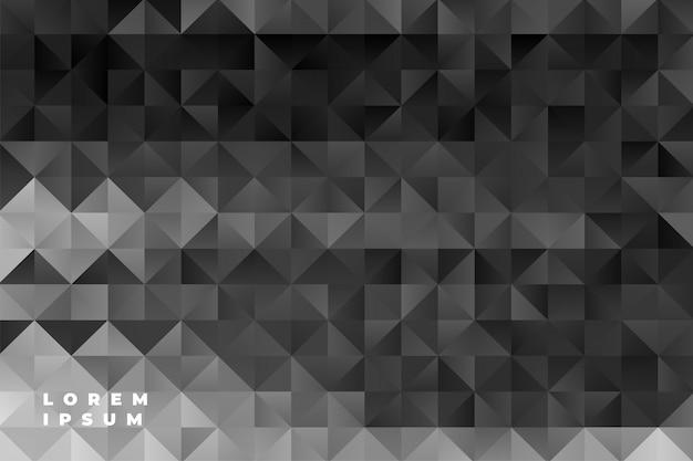 Resumen triángulos patrón fondo negro vector gratuito