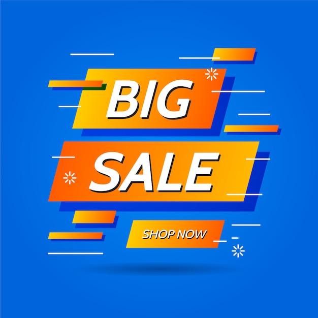 Resumen de ventas con promoción vector gratuito