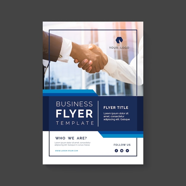 Resumen de viajero de negocios con foto vector gratuito