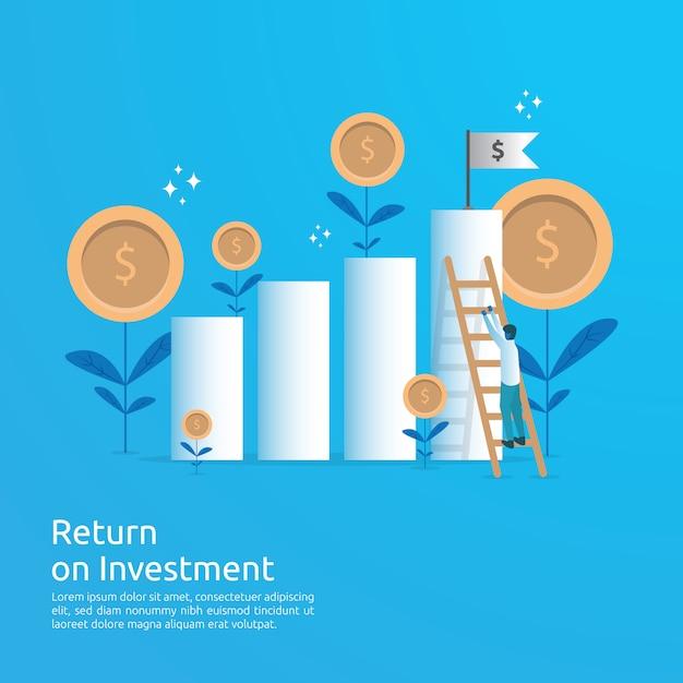 Retorno de la inversión roi Vector Premium