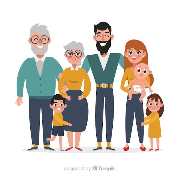 Retrato familiar vector gratuito