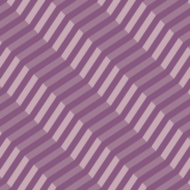 Retro geométrica diagonal zigzag de patrones sin fisuras - vector Vector Premium