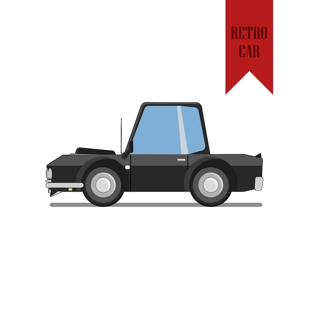 Retro muscle car | Descargar Vectores Premium