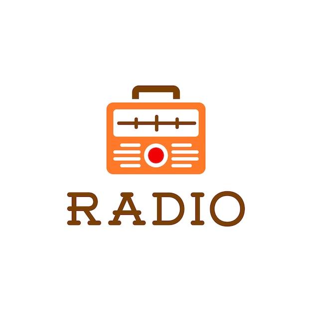 retro radio logo descargar vectores premium