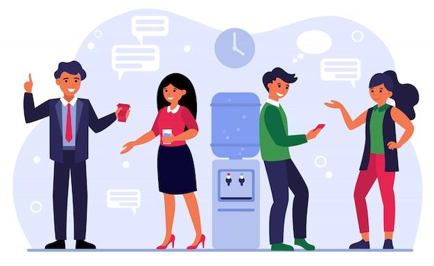 Reunión de colegas, charla de negocios vector gratuito