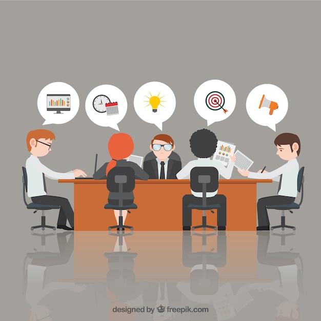 Reunión de negocios Vector Gratis