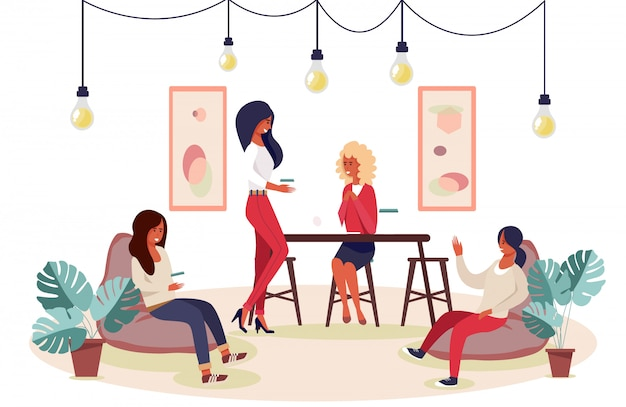 Reunión De Mujeres Felices Para Despedida De Soltera O