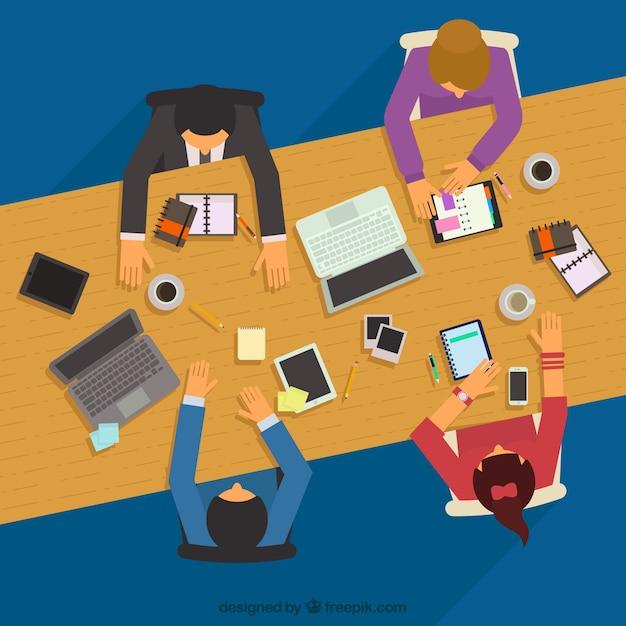 Reunión de negocios vector gratuito