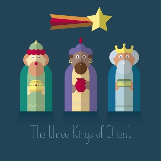 Ver Fotos De Los Reyes Magos De Oriente.Los Reyes Magos De Oriente En Diseno Plano Descargar