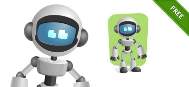 Robot con carácter visera vectorial vector gratuito