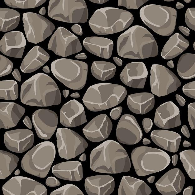 Rock piedra de patrones sin fisuras vector gratuito