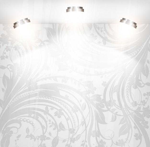 Rococo Retro Swirly Fondo De Pantalla Blanco