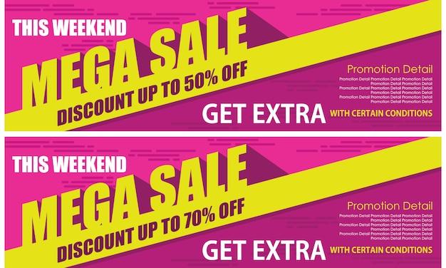 Roll up mega banner de venta Vector Premium
