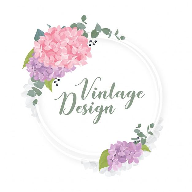 1717f8fdb Romántico marco redondo floral con flores de acuarela   Descargar ...