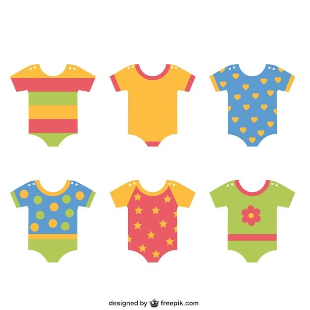 ropa de bebe vector