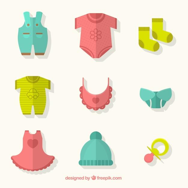 Ropa linda del bebé | Descargar Vectores gratis