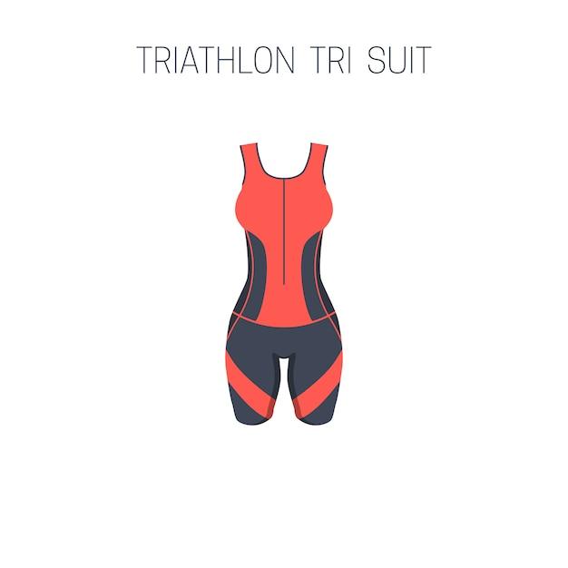 Ropa de triatlón para mujer. Vector Premium