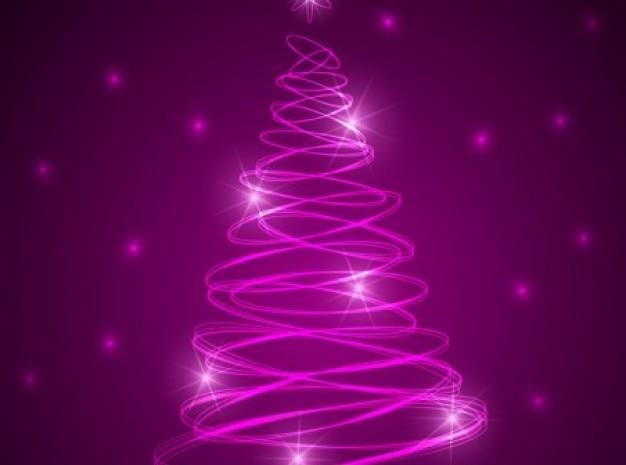 Rosa brillante rbol de navidad con las estrellas descargar vectores gratis - Arboles de navidad rosa ...