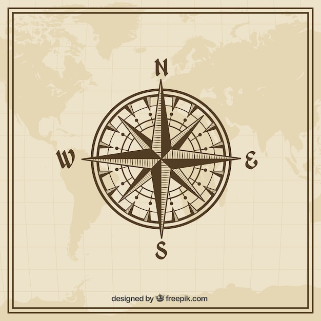 Vintage Globe Line Drawing : Rosa de los vientos fotos y vectores gratis