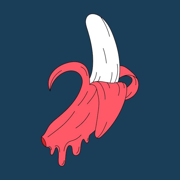 Rosa pastel vector plátano jugoso vector gratuito