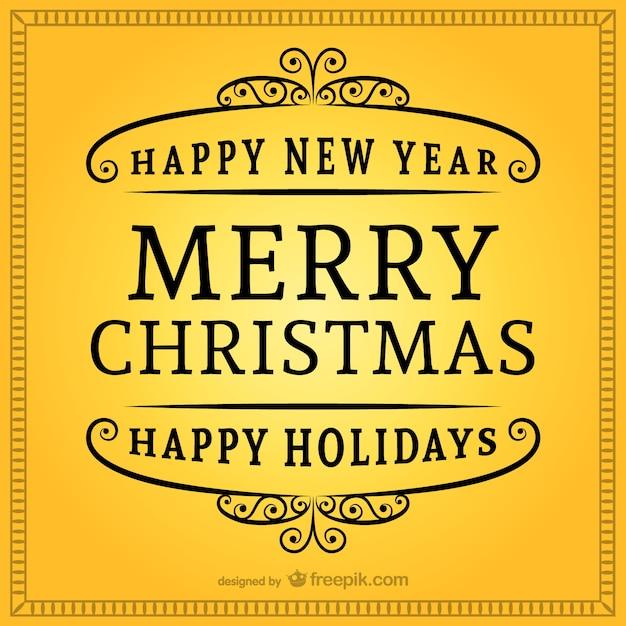Feliz Navidad Rotulos.Rotulo Vintage De Feliz Navidad Descargar Vectores Gratis