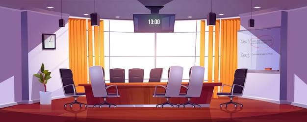 Sala de conferencias para reuniones de negocios. vector gratuito