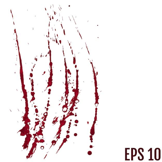 Salpicadura de sangre pintada Vector Premium