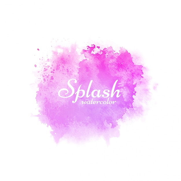 Salpicaduras de acuarela rosa de diseño decorativo. vector gratuito
