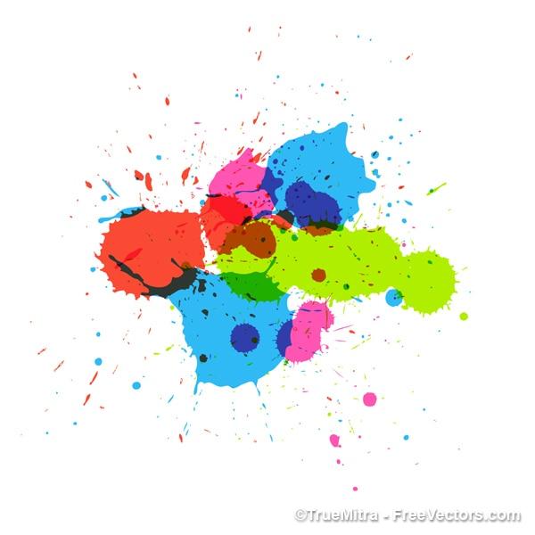 Salpicaduras de pintura de colores vector descargar vectores gratis - Salpicaduras de pintura ...