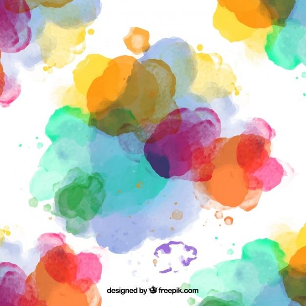 Salpicaduras de pintura de colores Vector Gratis