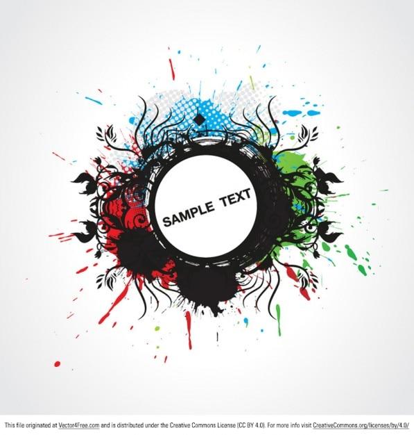 Salpicaduras de pintura de fondo grunge descargar vectores gratis - Salpicaduras de pintura ...
